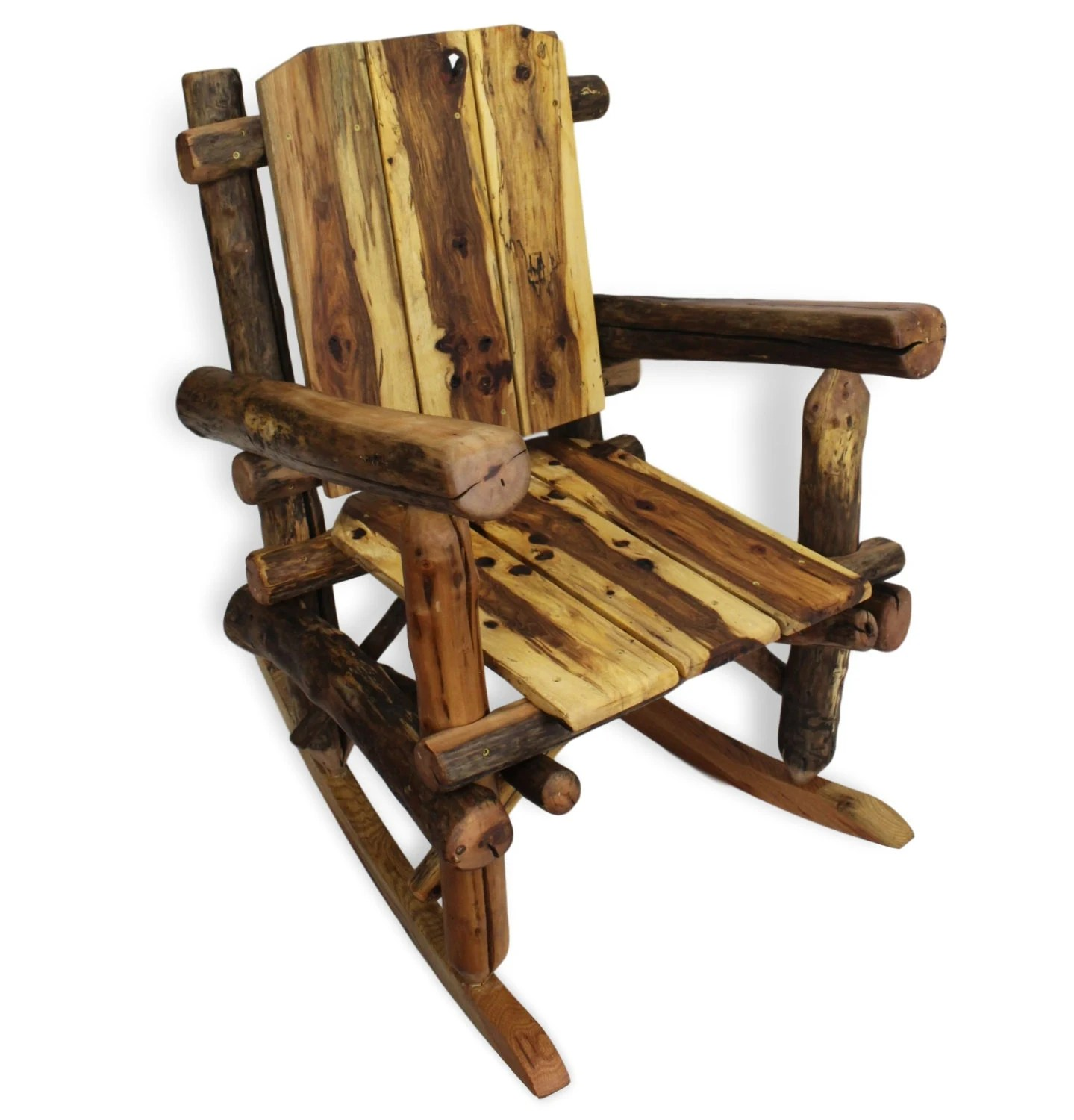Wood Glider Chair Rustic Rocking Chair Reclaimed Wood Rocking Chair Reclaimed