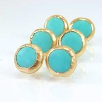 Turqouise Stud Earrings Turquoise earrings Gemstone by ...