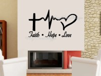 Faith Hope Love Wall Decal Large Wall Decal Christian Decal