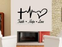 Faith Hope Love Wall Decal Large Wall Decal Christian Decal