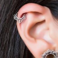 Helix earring. cartilage hoop. cartilage earring. helix hoop.