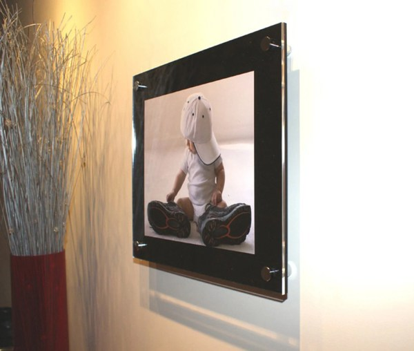 Black Cheshire Acrylic Floating 12 X 8 A4 Wall Frame In Uk High