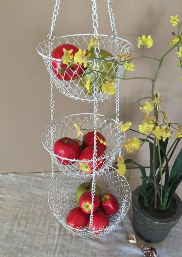 Vintage Three Tier Hanging Baskets