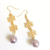 Pale Pink Pearl Infinity Earrings Pearl Earrings Pearl