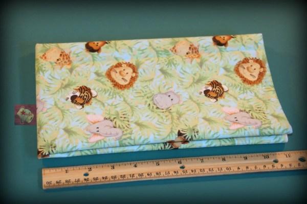 1 Yard Nursery Print Fabric Jungle Babies Starmalia