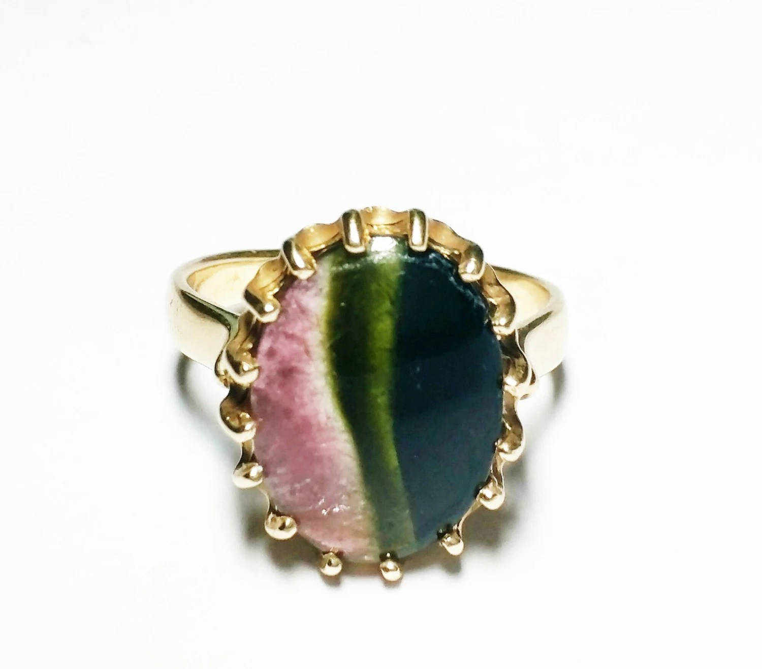 Banded Fluorite Ring