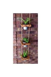 Hanging planter indoor planter succulent by JuniperWoodshop