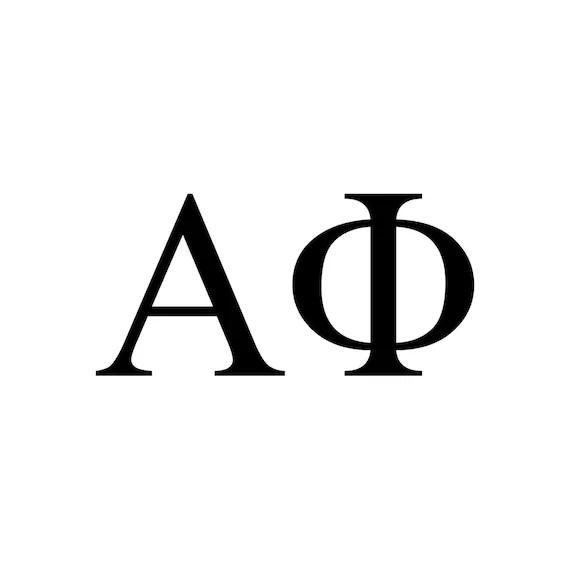 Alpha Phi decal vinyl window bumper Sorority greek letters