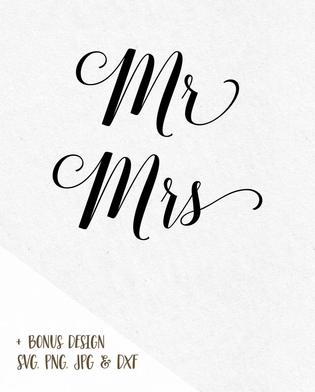 Mrs Mr Svg His Hers File Svg Designs Svg Files Saying Bundle