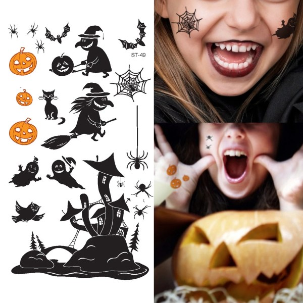 supperb temporary tattoos witch