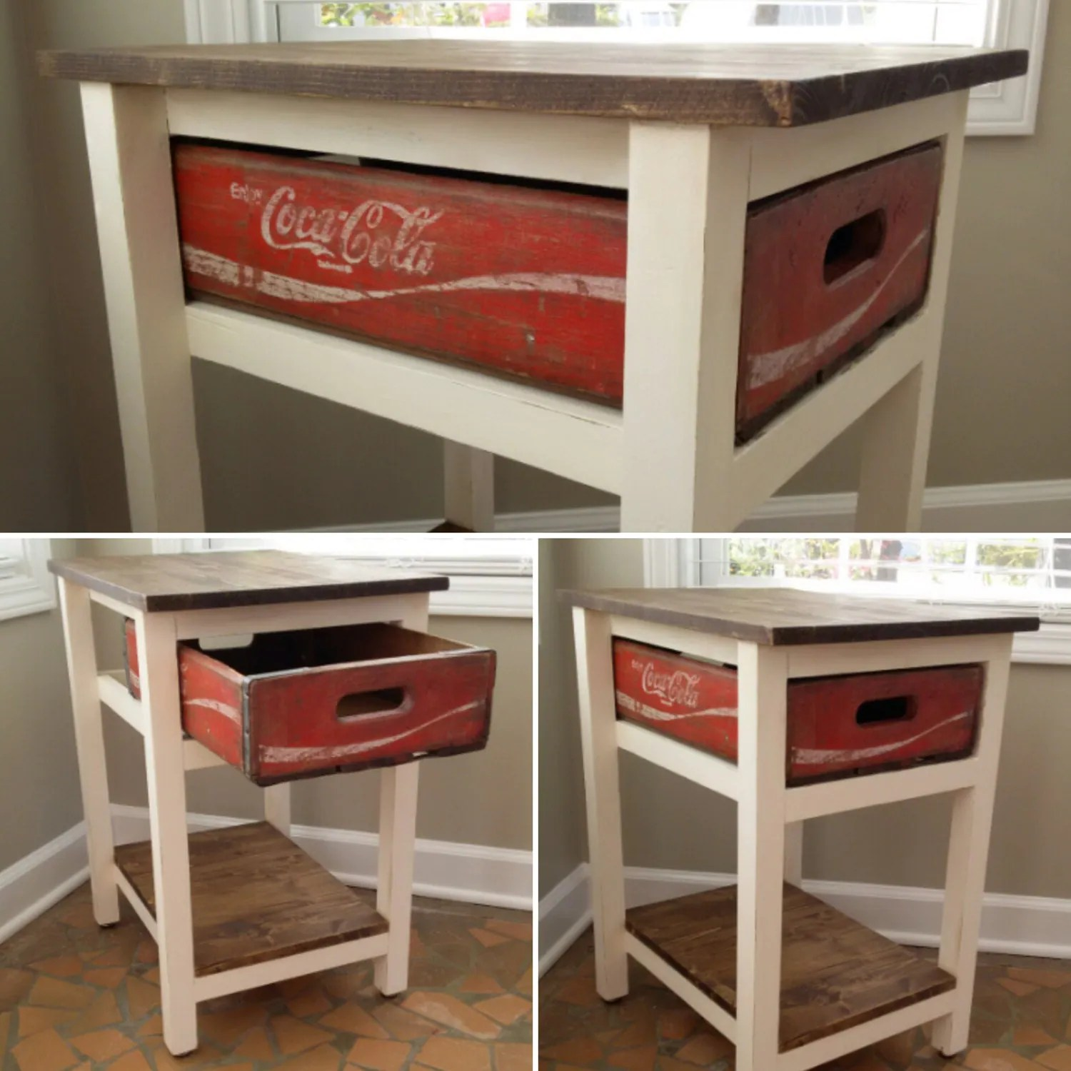 Coca Cola Table And Chairs Coca Cola Table Coke Table Coca Cola End By Twistedpinedesign