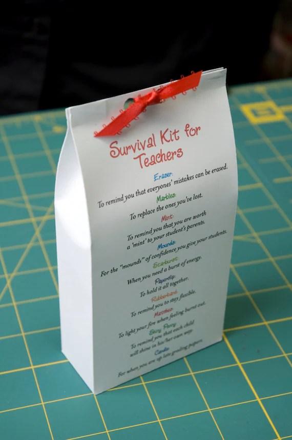 Survival Kit for Teachers Printable PDF