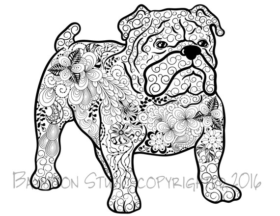 Bulldog Coloring Page Printable Coloring Pages by