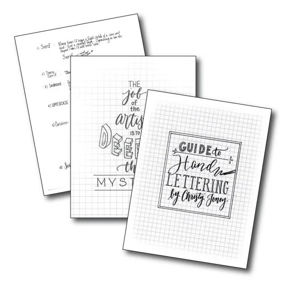 Hand Lettering Guide by Christy Toney