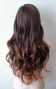 ombre wig. brown auburn