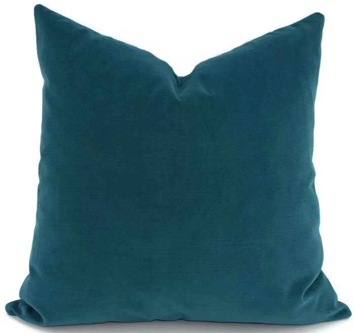 Throw Pillow Cover Deep Turquoise Velvet Pillow Cover 18x18
