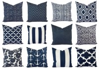 OUTDOOR Pillow Navy and White Pillow Cover Navy Blue Throw