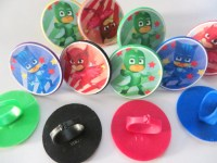 12 PJ Masks Plastic cupcake RINGS party by MelodysPartyFavors