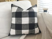 Black Buffalo Plaid Pillow Cover Black and by ...