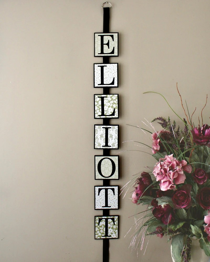 Personalized Last Name Wall Art Family Name by TimelessNotion