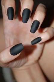 black coffin nails matte glossy