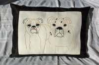 Dog Pillow XL Size Personalized Pet Pillow Cover Custom Pet