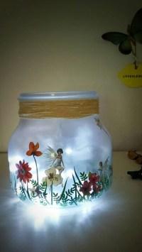 Fairy Jar Girls Night light Childs room Lighting by ...