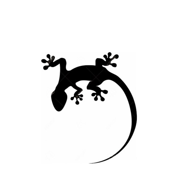 Lizard-Gecko Stencil Made from 4 Ply Mat Board from