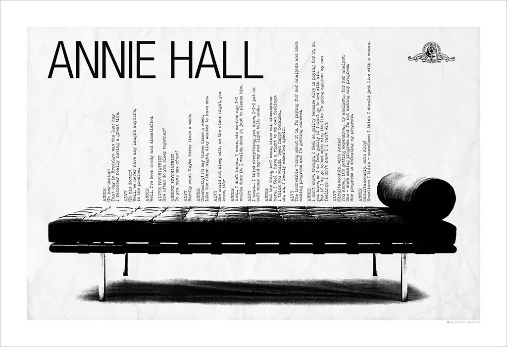 Annie Hall Woody Allen Poster 19x13 by SaulsCreative on Etsy