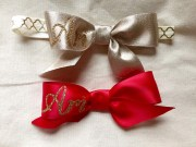 personalized hair bows set