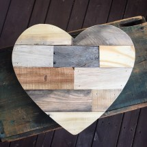 Heart Outline Pallet Wood Cutout Silhouette Reclaimed