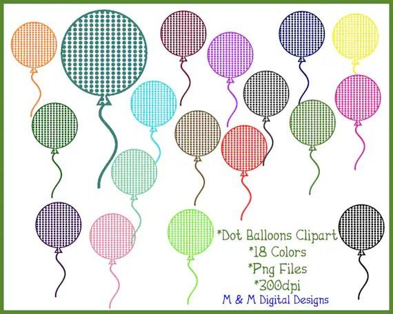polka dot balloons clipart clip