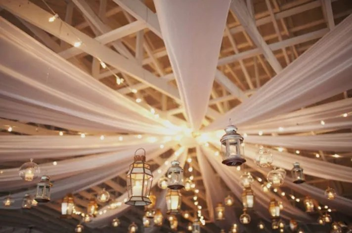 Ceiling Drapery. Wedding Ceiling Drapery. Tent Drapery.