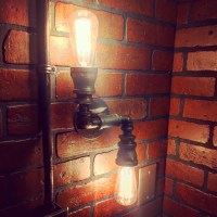Streamline Wall Sconce Light with operational valve Switch