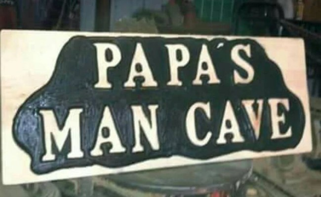 Man Cave Gifts For Dad Grandpa Wood Carved Signs