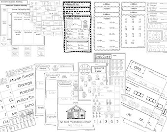 262 Preschool Worksheets Download. by BooksandBubbles on Etsy