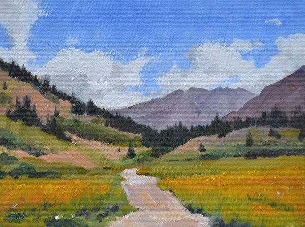 Colorado Rocky Mountain Landscape Oil Painting Western Art