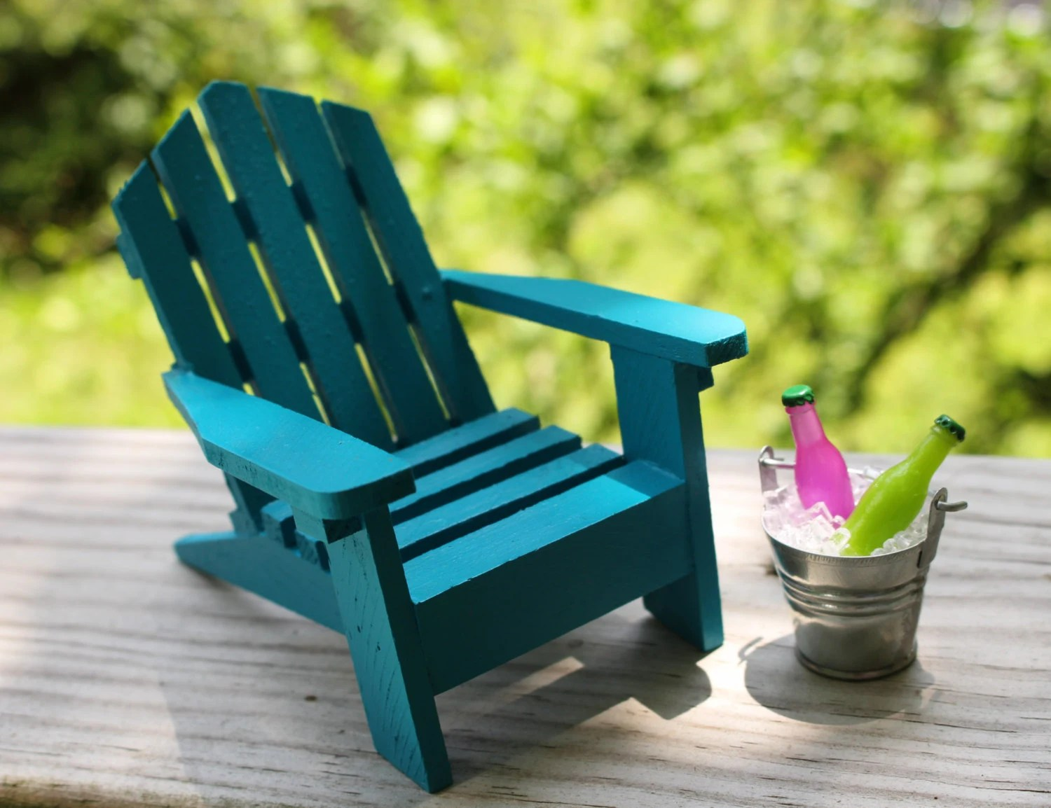 Mini Adirondack Chairs 1 Miniature Adirondack Chair Tin Bucket Ice And Soda Fairy