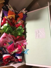 girls hair bows holiday bow box