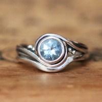 Aquamarine bridal set aquamarine engagement ring by ...