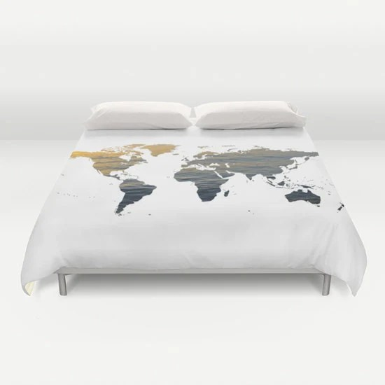 Articles Populaires Correspondant Map Duvet Cover Sur Etsy