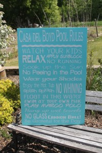Items similar to Pool Rules Sign Custom backyard decor