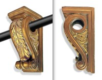 Decorative Curtain Rod Holders 2 & Corbel Brackets and