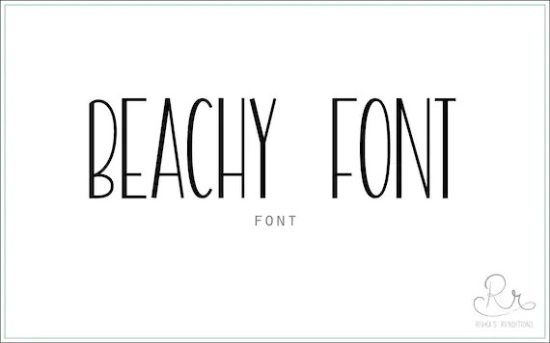 Beachy Font download // OTF / TTF Open Type Fonts //Digital