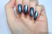 chrome nails coffin