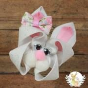 easter hair bow bunny