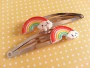cute rainbow hair slide