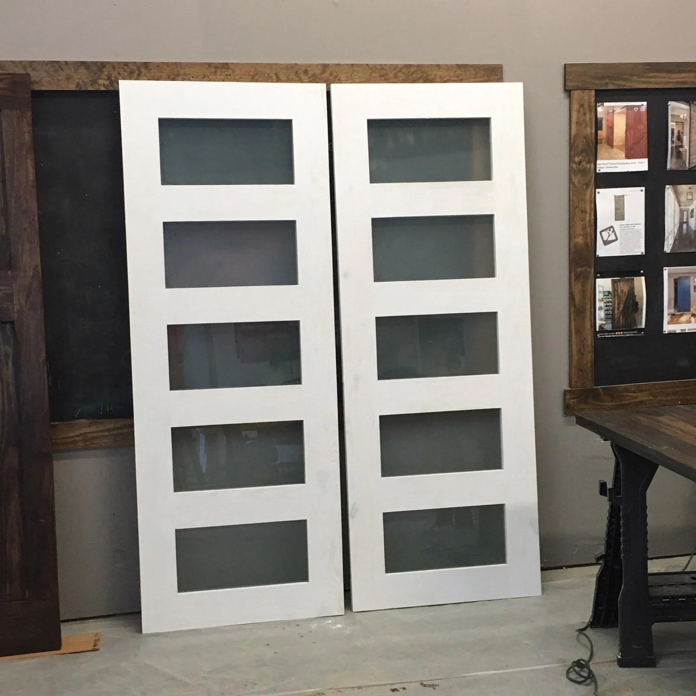 5 Panel Glass Window Sliding Door by Rustic Luxe