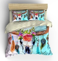 Bedding Southwest Dream Catcher Skull Floral by FolkandFunky