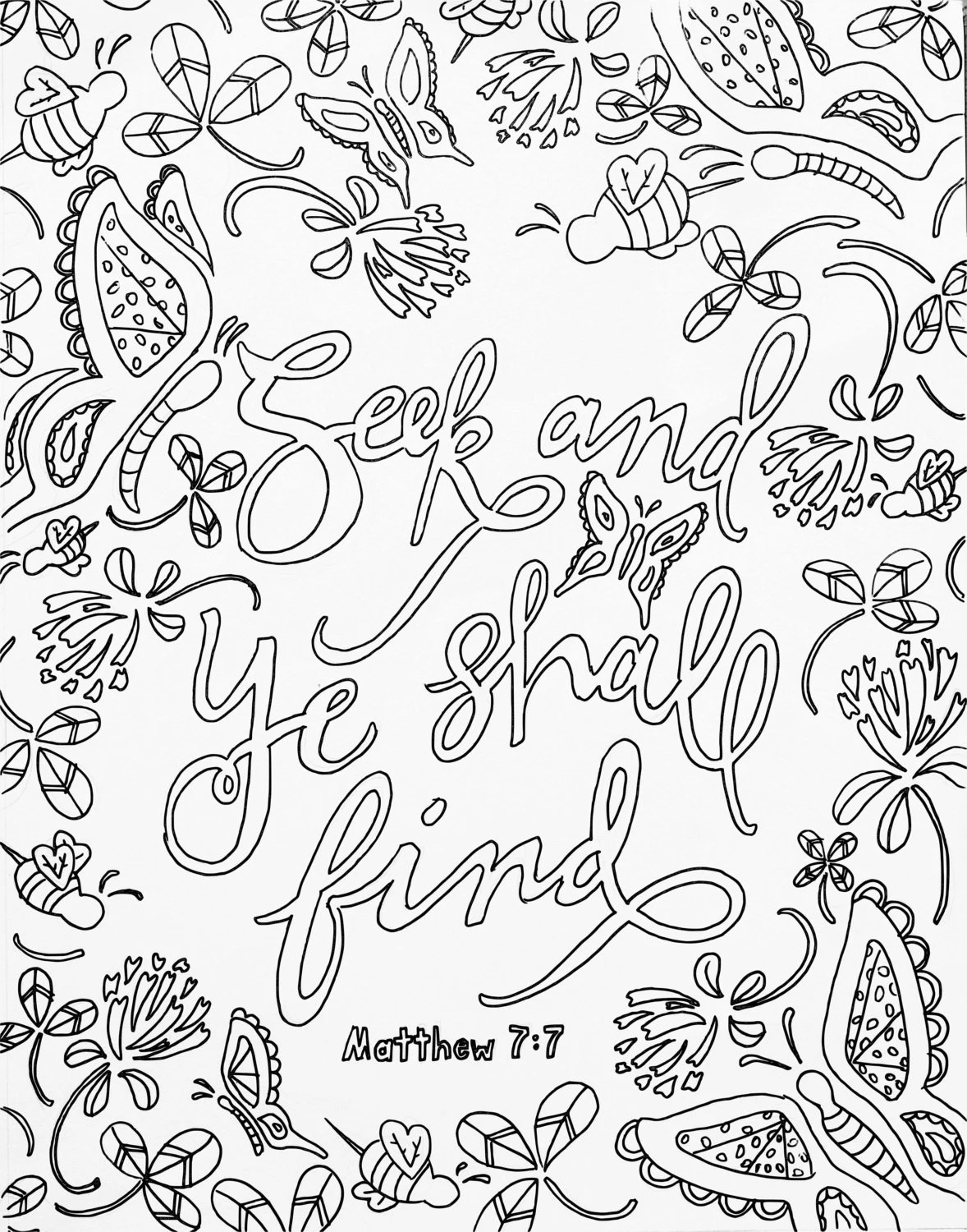 scripture coloring page adult coloring meditation
